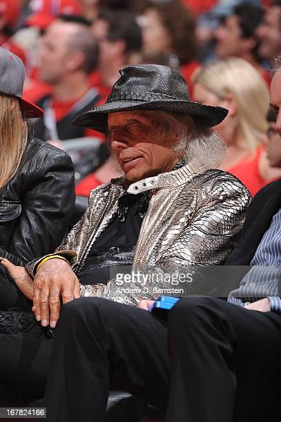 NBA fan James Goldstein watches the Memphis Grizzlies take on the Los Angeles Clippers at Staples Center in Game Five of the Western Conference...