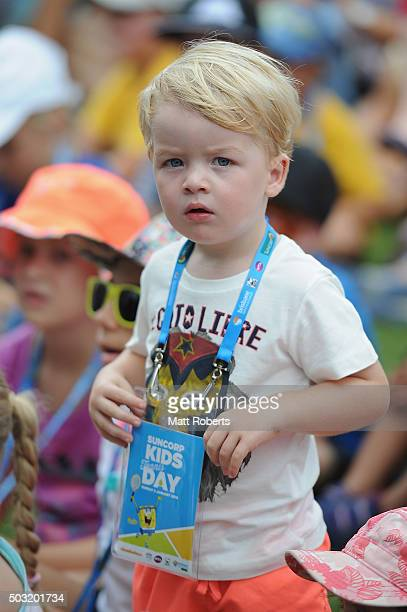 A fan looks on during day one of the 2016 Brisbane International at Pat Rafter Arena on January 3 2016 in Brisbane Australia