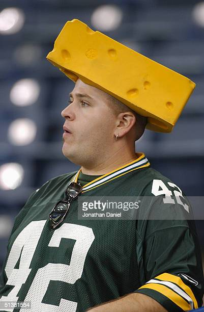 Fan looks on during the game between the Green Bay Packers and the Indianapolis Colts at the RCA Dome on September 26, 2004 in Indianapolis, Indiana....