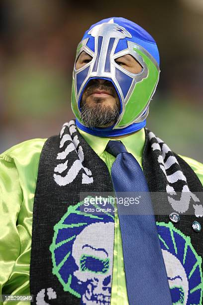 A fan looks on during the match between the Seattle Sounders FC and the Chicago Fire in the 2011 Lamar Hunt US Open Cup Final at CenturyLink Field on...