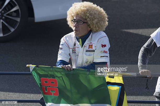 Fan looks on during the MotoGP race during the MotoGP of Japan Race at Twin Ring Motegi on October 16 2016 in Motegi Japan