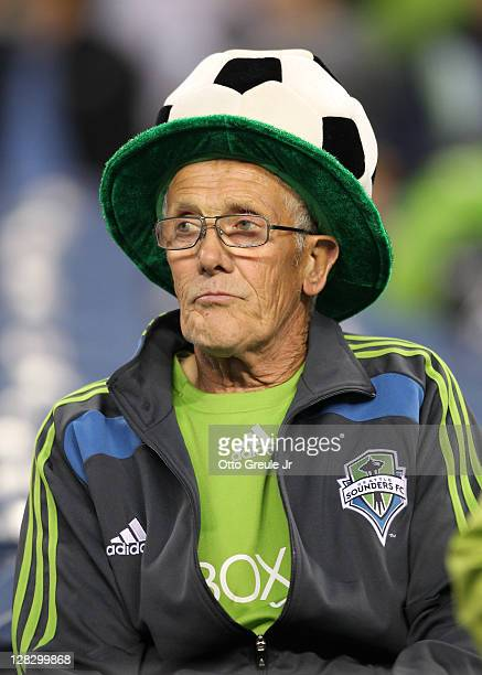 A fan looks on prior to the match between the Seattle Sounders FC and the Chicago Fire in the 2011 Lamar Hunt US Open Cup Final at CenturyLink Field...