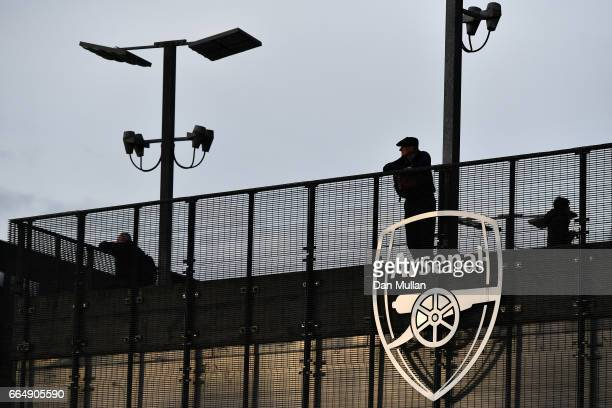 A fan looks on prior to the Premier League match between Arsenal and West Ham United at the Emirates Stadium on April 5 2017 in London England
