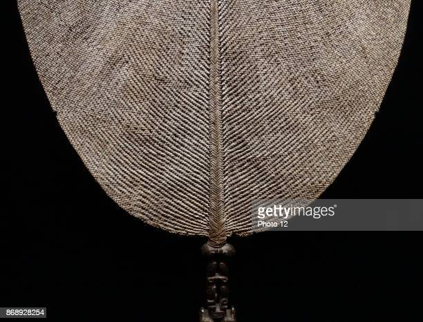 Fan made from wood and vegetable fibres Isle of Nuku Hiva in Polynesia