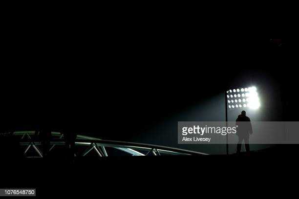 Fan makes their way to the stadium ahead of the Premier League match between Huddersfield Town and Burnley FC at John Smith's Stadium on January 2,...