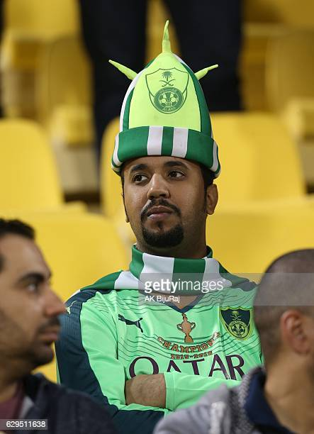 Fan of Al-Ahli Saudi FC during the Qatar Airways Cup match between FC Barcelona and Al-Ahli Saudi FC on December 13, 2016 in Doha, Qatar.