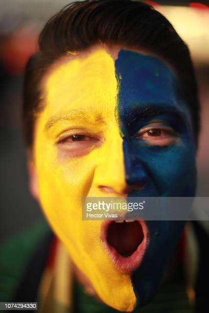 Fan of America poses prior the final second leg match between Cruz Azul and America as part of the Torneo Apertura 2018 Liga MX at Azteca Stadium on...