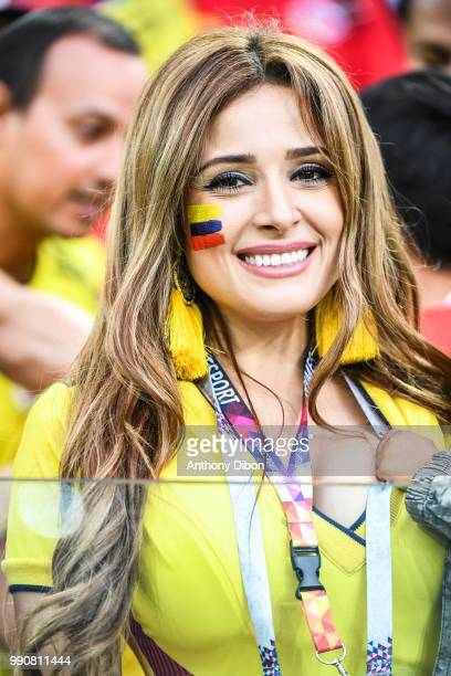 A fan of Colombia during the 2018 FIFA World Cup Russia Round of 16 match between Colombia and England at Spartak Stadium on July 3 2018 in Moscow...
