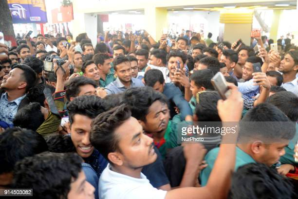 Fan of Cricketer Shakib Al Hasan gathered at at Parl Publications stall in Ekushey Book Fair to see and buy shakid's written book name is...