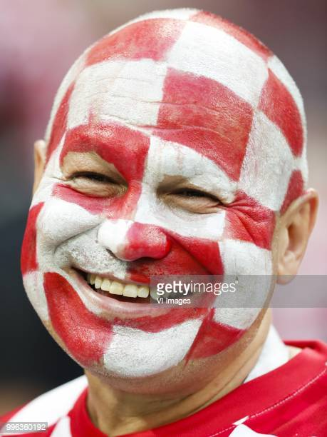Fan of Croatia during the 2018 FIFA World Cup Russia Semi Final match between Croatia and England at the Luzhniki Stadium on July 01 2018 in Moscow...