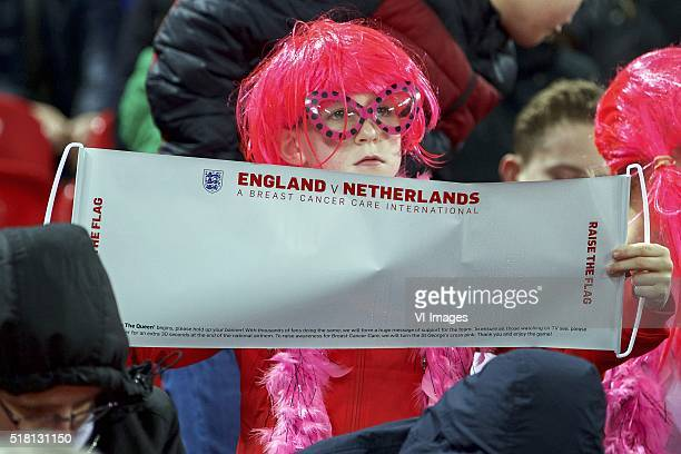 fan of Engeland supporter during the friendly match between England and Netherlands on March 29 2016 at Wembley stadium in London England