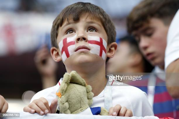 fan of England during the 2018 FIFA World Cup Russia Semi Final match between Croatia and England at the Luzhniki Stadium on July 01 2018 in Moscow...
