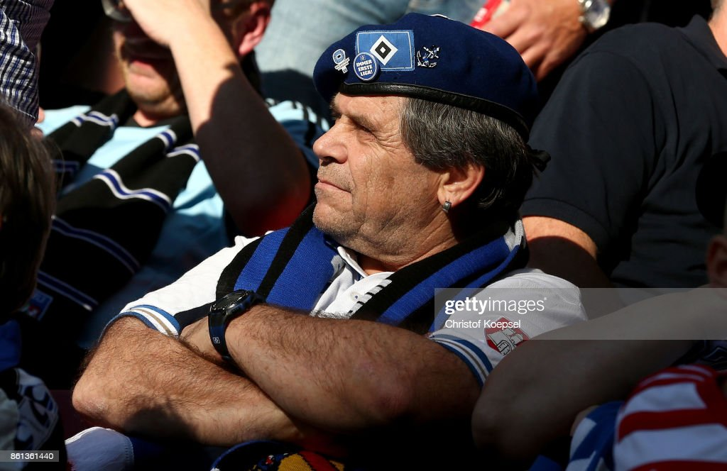 A fan of Hamburger SV is seen during the Bundesliga match between 1. FSV Mainz 05 and Hamburger SV at Opel Arena on October 14, 2017 in Mainz, Germany. The match between Mainz and Hambnrug ended 3-2.