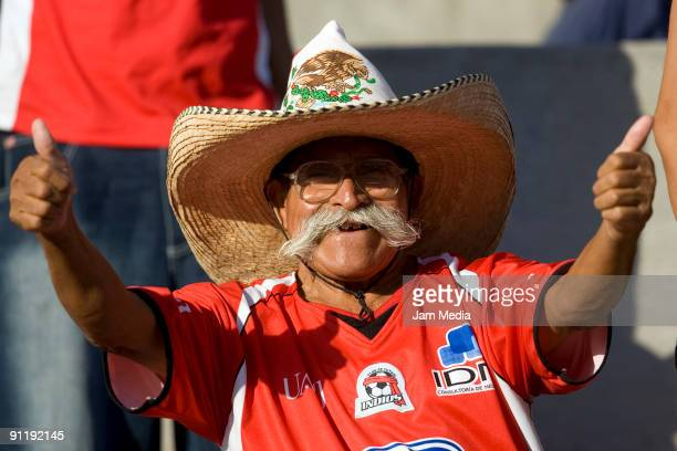 Fan of Indios during their match in the 2009 Opening tournament the closing stage of the Mexican Football League at The Benito Juarez Stadium on...