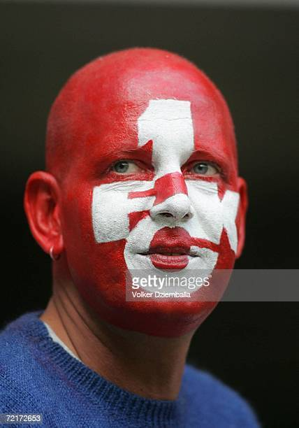Fan of Kaiserslautern looks happy after winning match during the Second Bundesliga match between 1FC Kaiserslautern and Erzgebirge Aue at the...