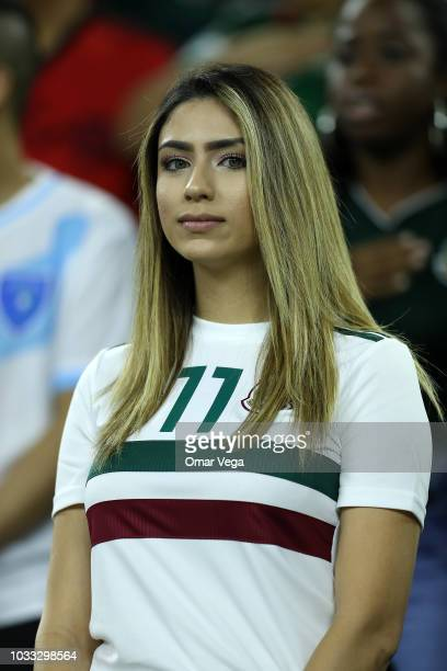 A fan of Mexico looks on during the International Friendly match between Mexico and Uruguay at NRG Stadium on September 7 2018 in Houston United...