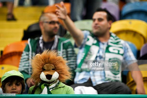 A fan of Sporting Clube de Portugal before the Portuguese Primeira Liga ZON Sagres match between Sporting Lisbon and Olhanense at the Alvalade...