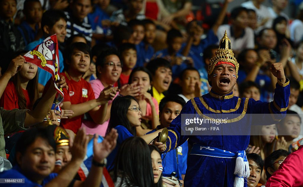 A fan of Thailand is seen during the FIFA Futsal World Cup Group A match between Thailand and Ukraine at Indoor Stadium Huamark on November 4, 2012 in Bangkok, Thailand.