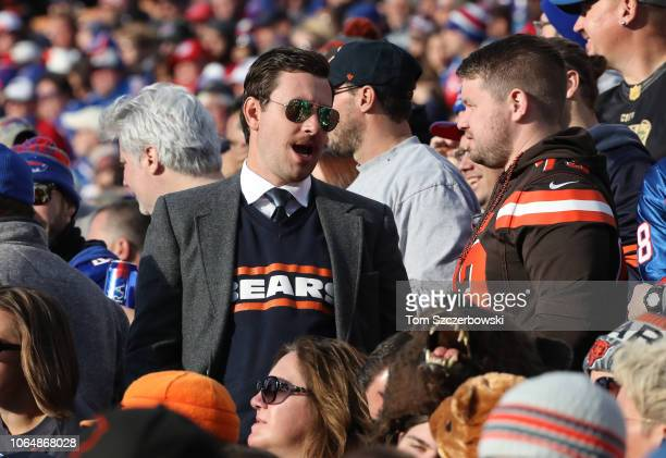 A fan of the Chicago Bears dressed as former coach and player Mike Ditka in the stands during NFL game action against the Buffalo Bills at New Era...
