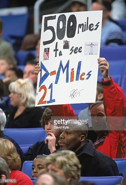 Fan of the Cleveland Cavaliers shows his support during the game against the New York Knicks at Gund Arena on April 12 2003 in Cleveland Ohio The...