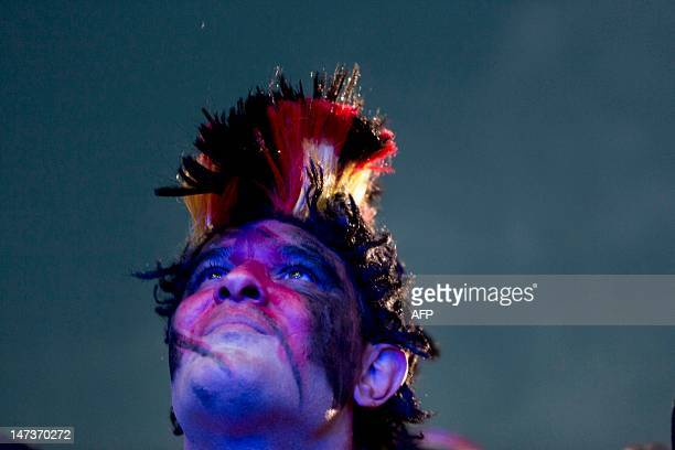 Fan of the German team reacts at the end of the UEFA Euro 2012 championships semi-final football match between Germany and Italy at the socalled...