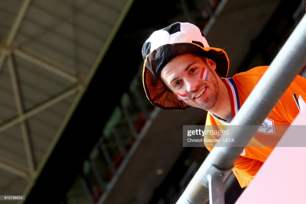 A fan of the Netherlands is seen during the UEFA Women's Euro 2017 Group A match between Netherlands and Norway at Stadion Galgenwaard on July 16, 2017 in Utrecht, Netherlands.