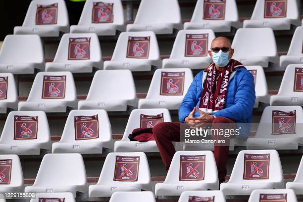 Fan of Torino FC on the stands during the Serie A match between Torino Fc and Cagliari Calcio Cagliari Calcio wins 32 over Torino Fc