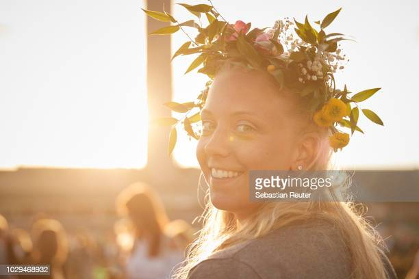 Fan poses during Lollapalooza Berlin 2018 at Olympiagelaende on September 8, 2018 in Berlin, Germany.
