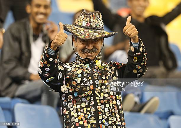 Fan poses during the Qatar Airways Cup match between FC Barcelona and Al-Ahli Saudi FC on December 13, 2016 in Doha, Qatar.