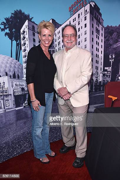 Fan programmer Michelle Curtis and author Mark A Vieira attend Mark Viera book signing during day 2 of the TCM Classic Film Festival 2016 on April 29...