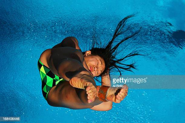 Fan Qin of Australia dives during the Women's 3 Meter Springboard preliminaries at the Fort Lauderdale Aquatic Center on Day 1 of the ATT USA Diving...