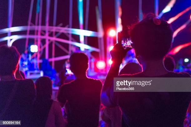 Ventilateur, enregistrement de concert de musique sur téléphone mobile