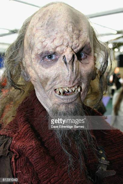 Fan Robert Davidson is seen transformed into an Orc at The Fellowship Festival 2004 aimed at J R R Tolkien fans at Alexandra Palace on August 28 2004...