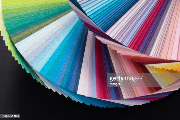 Fan Shape Paper Cards Overlay