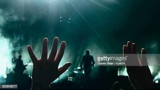 Fan shows their appreciation during live concert