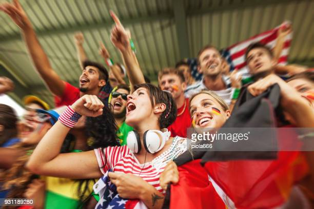 fan supporting their national teams - fan enthusiast stock pictures, royalty-free photos & images