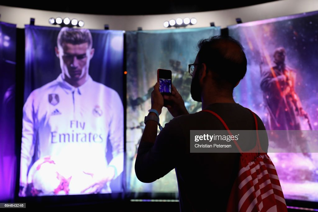 A fan takes photos during the Electronic Arts EA Play event at the Hollywood Palladium on June 10, 2017 in Los Angeles, California. The E3 Game Conference begins on Tuesday June 13.