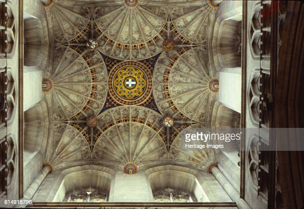 Fan Vaulting in Canterbury Cathedral Kent England 20th century Canterbury Cathedral is one of the oldest and most famous Christian structures in...