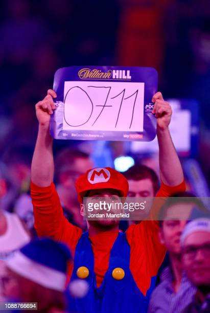 A fan watches on during the Final match between Michael van Gerwen of the Netherland and Michael Smith of England onDay 17 of the 2019 William Hill...