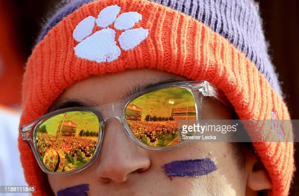 Fan watches on during the game between the Wake Forest Demon Deacons and Clemson Tigers at Memorial Stadium on November 16, 2019 in Clemson, South...