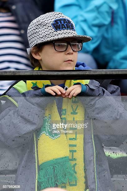 A fan watches on during the women's international friendly match between the Australian Matildas and the New Zealand Football Ferns at Morshead Park...