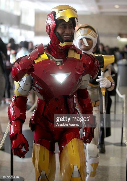 A fan wearing a costume attends the Jakarta Comic Con 2015 at Jakarta Convention Centre in Jakarta Indonesia on November 15 2015