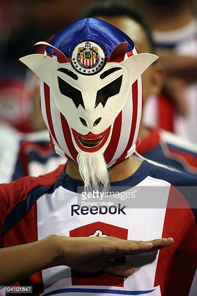 Fan with a luchador mask looks on during the Chivas USA vs. Chivas Guadalajara as they play in their ChivasClásico soccer match on September 14, 2010...