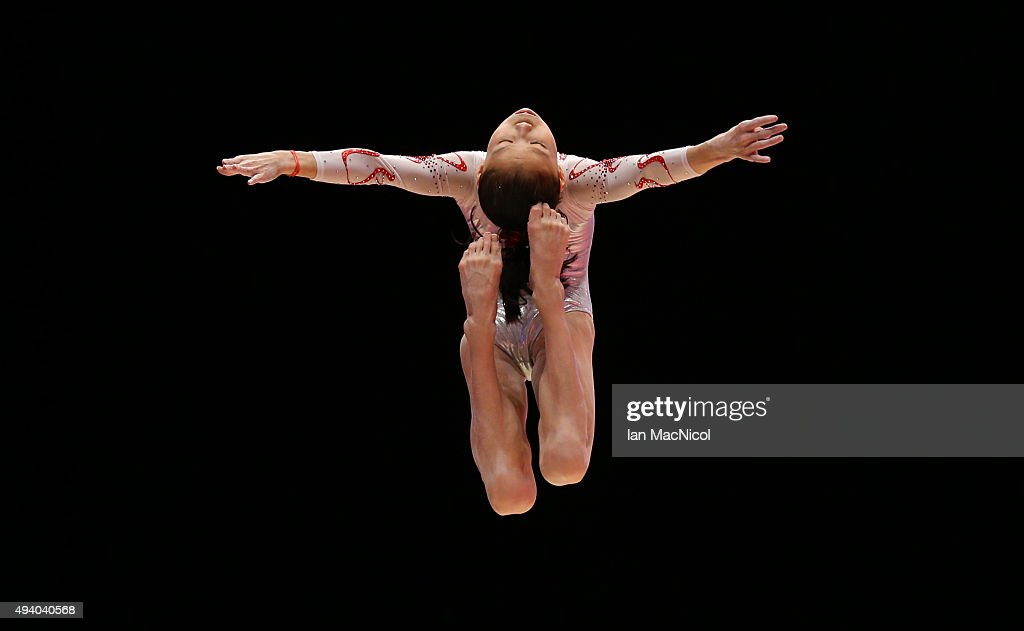 Fan Yilin of China competes on the Beam during day Two of the 2015 World Artistic Gymnastics Championships at The SSE Hydro on October 24, 2015 in Glasgow, Scotland.