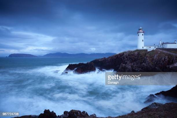 fanad lighthouse, donegal, ireland - county donegal stock photos and pictures