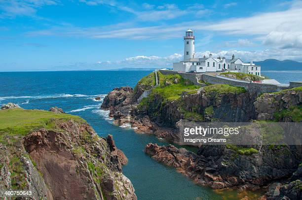 fanad lighthouse - county donegal stock photos and pictures