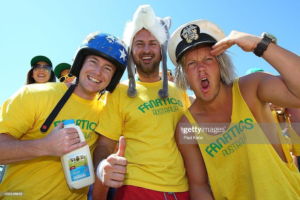 Australia v Uzbekistan - Davis Cup World Group Play-off : Foto jornalística
