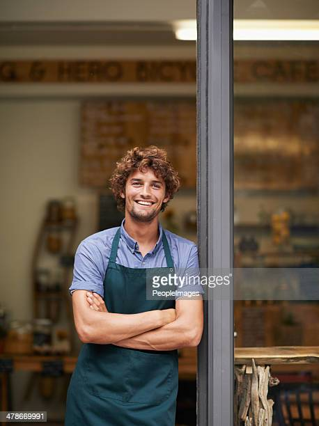 fancy a coffee? - apron stock pictures, royalty-free photos & images