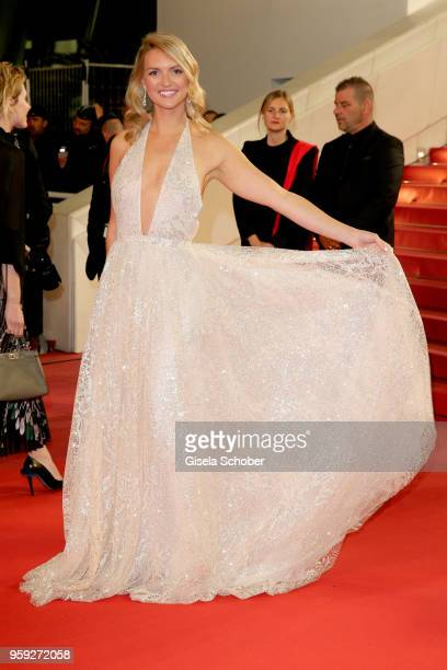 Fancy Alexandersson attends the screening of 'Dogman' during the 71st annual Cannes Film Festival at Palais des Festivals on May 16 2018 in Cannes...
