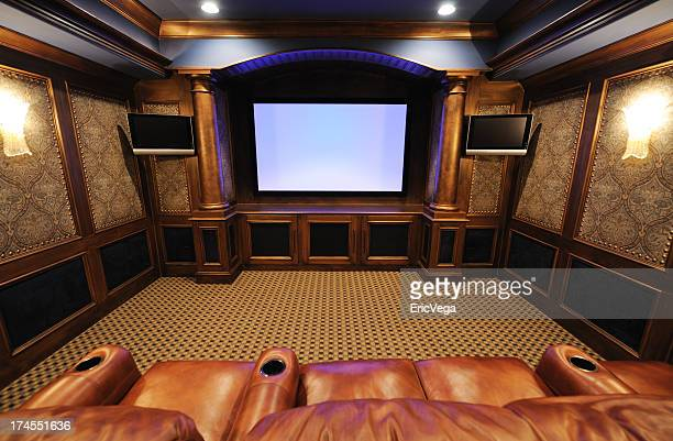 Fancy and classic home theater room